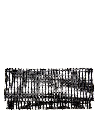 Nina Stripe Pattern Crystal Clutch