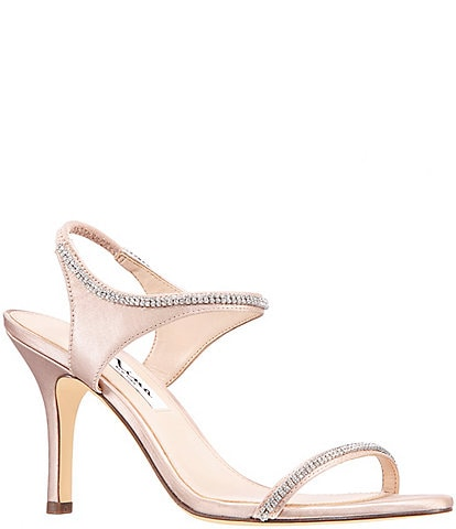 Nina Vanda Embellished Satin Dress Sandals