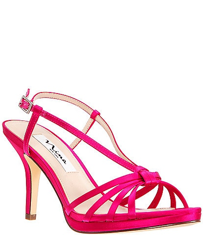 Nina Verdad Satin Strappy Dress Sandals