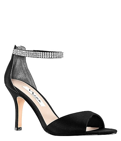 36483c981c Nina Volanda Satin and Rhinestone Dress Sandals