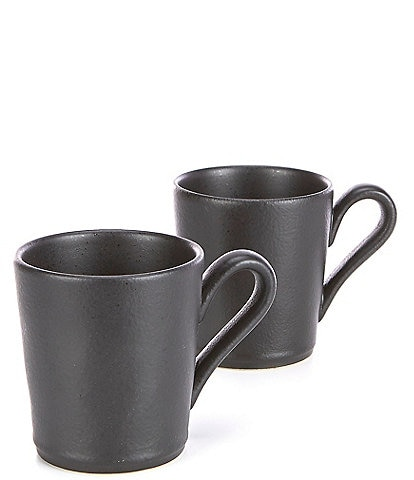 Noble Excellence Astoria Collection Matte Glaze Mugs, Set of 2