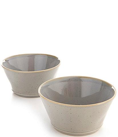 Noble Excellence Astoria Collection Speckled Glazed Fruit Bowls, Set of 2