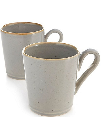 Noble Excellence Astoria Collection Speckled Glazed Mugs, Set of 2