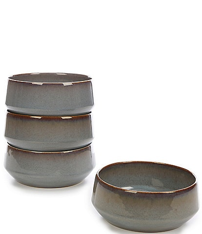 Noble Excellence Aurora Collection Glazed Cereal Bowls, Set of 4