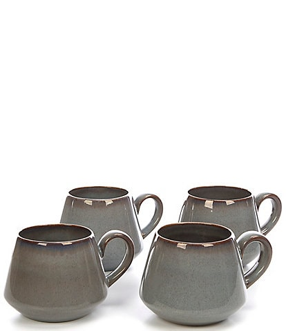 Noble Excellence Aurora Collection Glazed Mugs, Set of 4