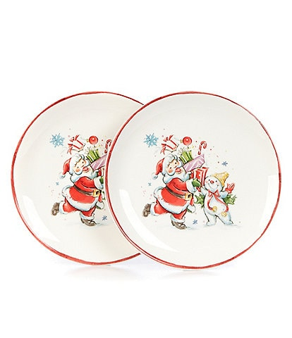 Noble Excellence Holiday Mr. Bingle Accent Plates, Set of 2
