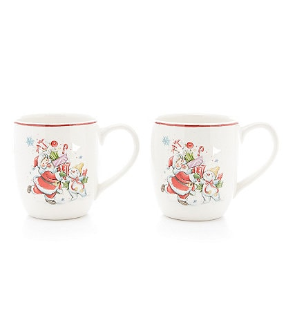Noble Excellence Holiday Mr. Bingle Coffee Mugs, Set of 2