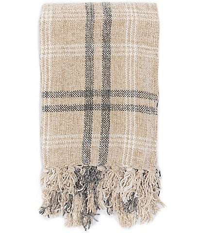 Noble Excellence Milo Chenille Plaid Throw
