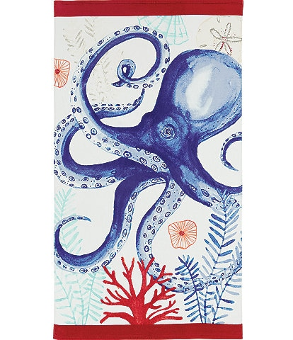 Noble Excellence Outdoor Living Collection Octopus Beach Towel