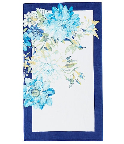 Noble Excellence Outdoor Living Collection Summer Garden Velour Beach Towel