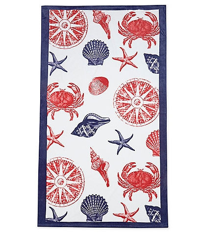 Noble Excellence Outdoor Living Collection Under the Sea Velour Beach Towel