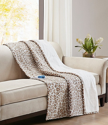 Noble Excellence Sherpa Backed Heated Electric Throw