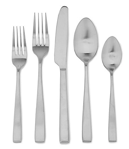 Noble Excellence Nova Satin Finished Silver Stainless Steel 20-Piece Flatware Set