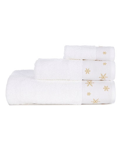 Noble Excellence Snowflake Bath Towels
