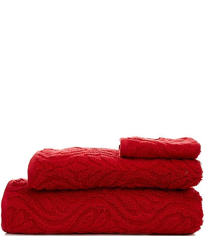 Noble Excellence Sonata Sculpted Scroll Pattern Bath Towels
