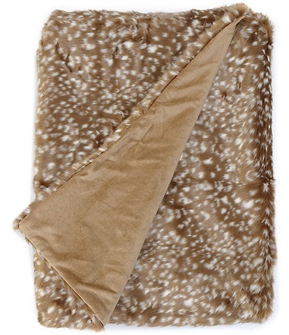 Noble Excellence Warm Shop Collection Bailey Faux Fur Throw
