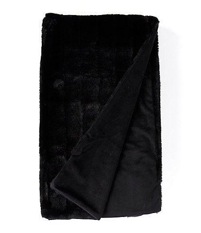 Noble Excellence Warm Shop Collection Vanessa Cut Channel Faux Fur Throw