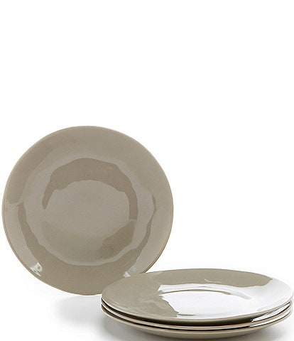 Noble Excellence Willow Collection Glazed Dinner Plates, Set of 4