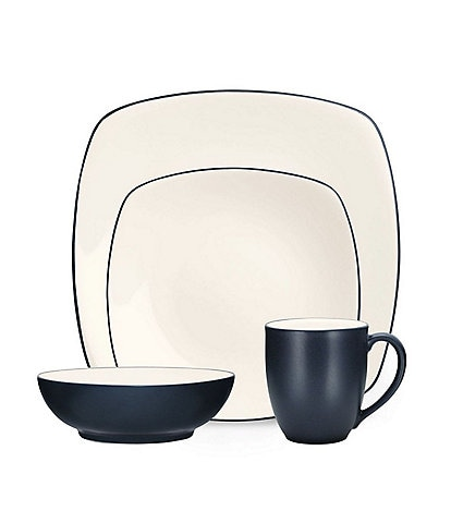 Noritake Colorwave Square Matte & Glossy Stoneware 4-Piece Place Setting