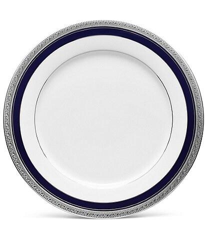 Noritake Crestwood Cobalt Etched Platinum Porcelain Dinner Plate