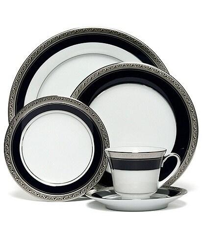 Noritake Crestwood Cobalt Platinum Porcelain 5-Piece Place Setting