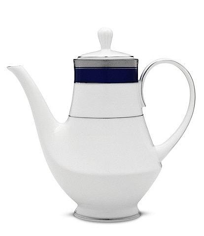Noritake Crestwood Cobalt Platinum Porcelain Coffeepot