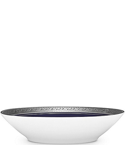 Noritake Crestwood Cobalt Platinum Porcelain Fruit Bowl