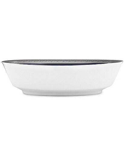 Noritake Crestwood Cobalt Platinum Porcelain Oval Vegetable Bowl