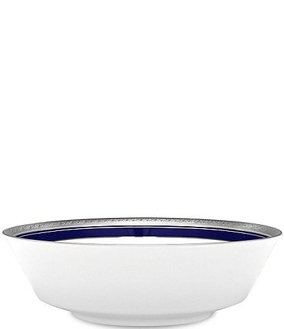 Noritake Crestwood Cobalt Platinum Porcelain Round Vegetable Bowl