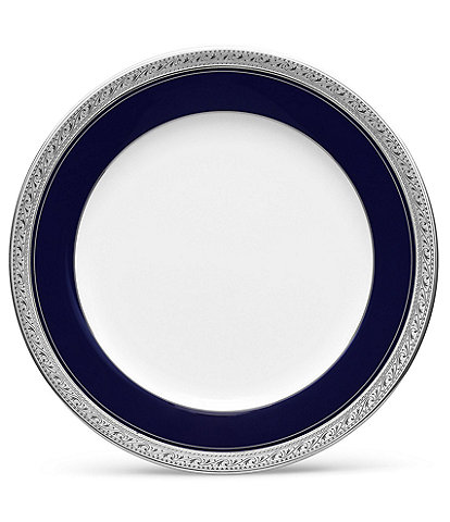 Noritake Crestwood Cobalt Platinum Porcelain Salad Plate