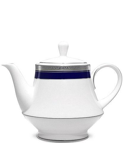 Noritake Crestwood Cobalt Platinum Teapot