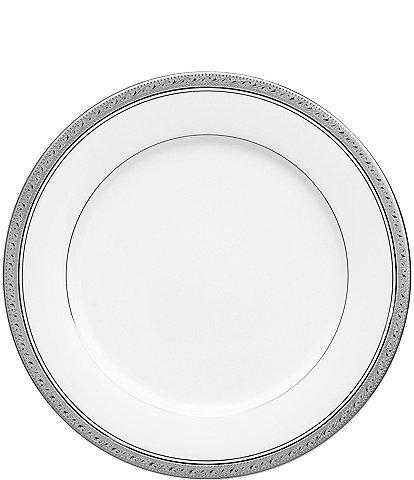 Noritake Crestwood Etched Platinum Porcelain Dinner Plate