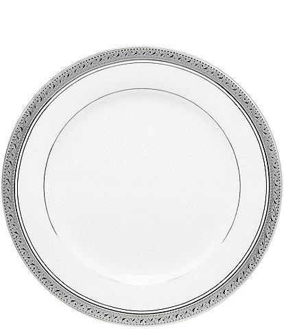 Noritake Crestwood Etched Platinum Porcelain Salad Plate
