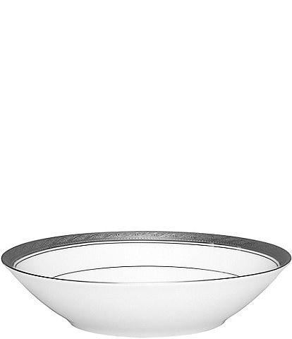 Noritake Crestwood Etched Platinum Porcelain Soup Bowl
