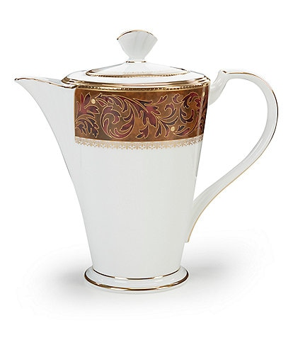 Noritake Xavier Gold Paisley Bone China Coffee Server
