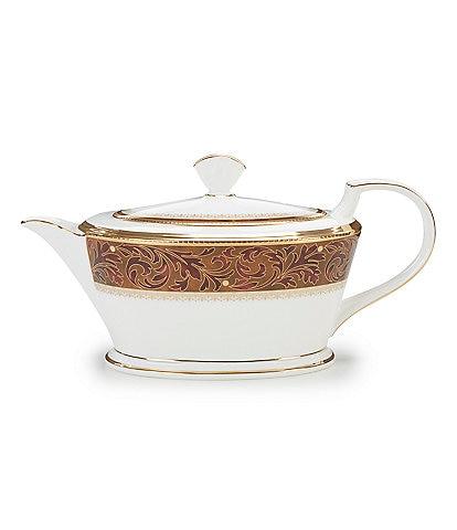 Noritake Xavier Gold Paisley Bone China Teapot