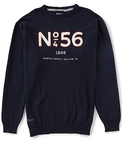 North 56'4 Big & Tall Applique Print Long-Sleeve Shirt