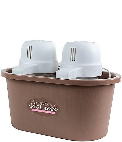 Nostalgia Electrics 4- Quart Double Flavor Ice Cream Maker