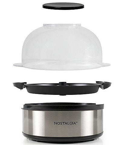 Nostalgia Electrics 6- Quart Stainless Steel Stirring Speed Popcorn Poppers