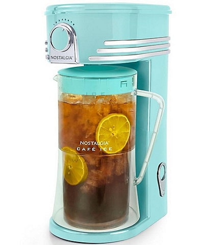 Nostalgia Electrics Cafe Ice 3-Quart Iced Coffee and Tea Brewing System with Plastic Pitcher