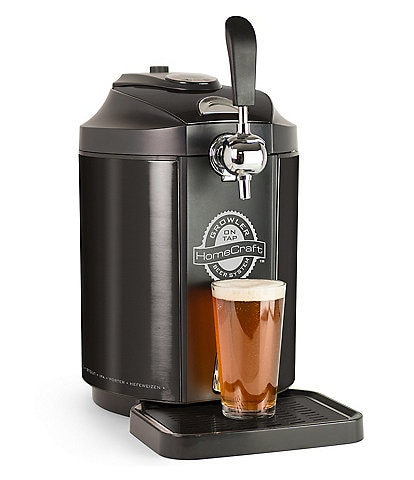 Nostalgia Electrics HomeCraft Black Stainless Steel Tap Beer Growler Cooling System