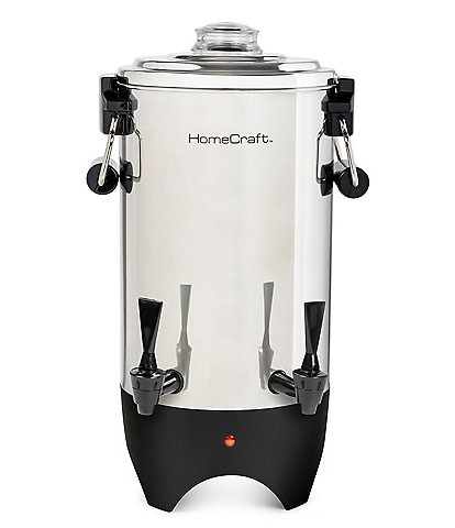 Nostalgia Electrics HomeCraft™ Quick-Brewing 1000-Watt Automatic 45-Cup Coffee Urn, Stainless Steel