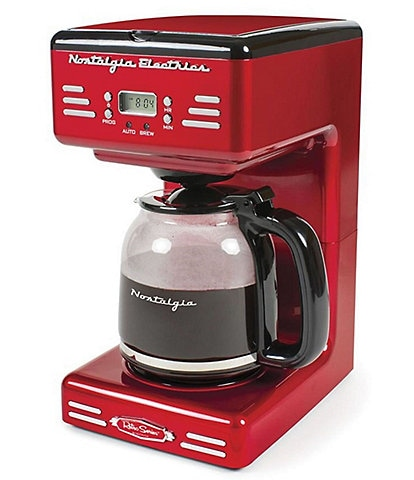 Nostalgia Electrics Red Retro 12-Cup Programmable Coffee Maker With LED Display