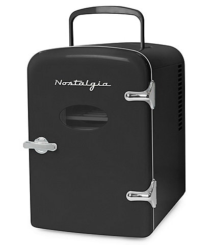 Nostalgia Electrics Retro 6-Can Personal Cooling and Heating Refrigerator with Dry Erase Door