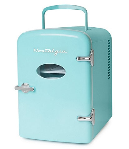 Nostalgia Electrics Retro 6-Can Personal Cooling and Heating Refrigerator