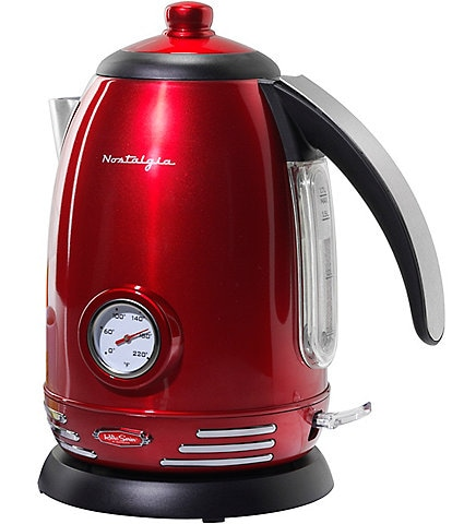 Nostalgia Electrics Stainless Steel Electric Water Kettle