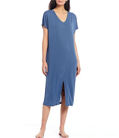 Nottibianche Easy Essential Solid Jersey Knit Lounge Dress