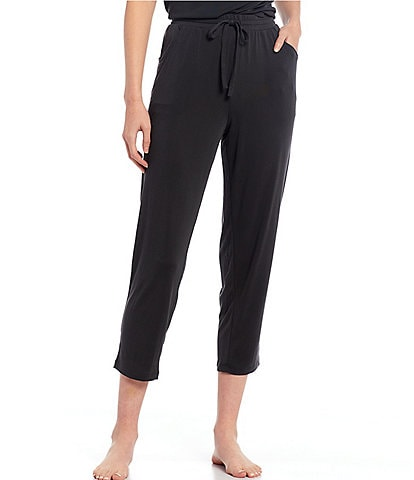 Nottibianche Easy Essentials Solid Jersey Knit Cropped Lounge Pants