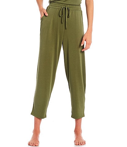 Nottibianche Easy Essentials Solid Jersey Knit Cropped Coordinating Sleep Pants
