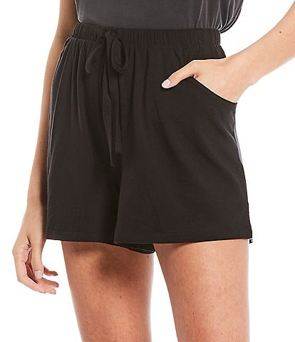 Nottibianche Solid Jersey Knit Shorts